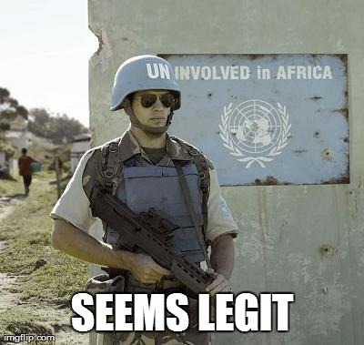 Image tagged in funny,united nations,political | SEEMS LEGIT