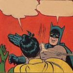 Batman Slapping Robin Meme Template Thumbnail